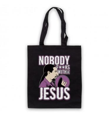 Big Lebowski Nobody Fucks With The Jesus Tote Bag